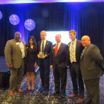 From left to right are as follows: Barry Hundley - President Elect - 2017 BBA Smita Solanski - Executive Director - BBA Dr. Mark Becker - President of Georgia State University and Keynote Speaker David Coxon - 2016 President BBA Chris Godfrey - 2015 President BBA YoungBucks Greg David - Immediate Past President BBA
